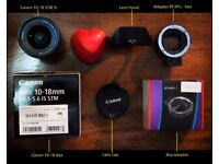 Canon 10-18 STM IS + COMMLITE adapter EF to NEX sony a6300 a7 a7r2