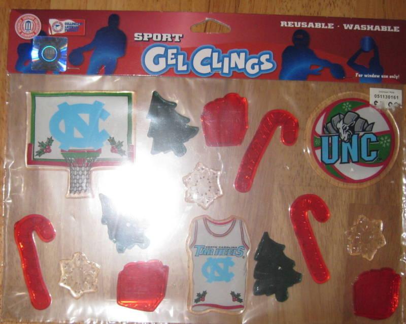 Christmas Window Sport Gel Clings *NC Tar Heels*   H95705808