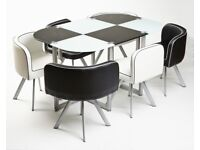 Glass dining tables and 6 chairs brand new sets (Discounted to clear)