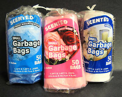 4 Gallon Scented Trash Garbage Doggie Bags 50 Per Pkg Free Shipping