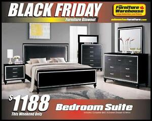BLACK FRIDAY Bedroom Set Deal-Only $1188