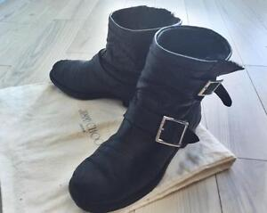 Jimmy Choo Youth Boots Bicker Lined with Rabbit Fur Toronto