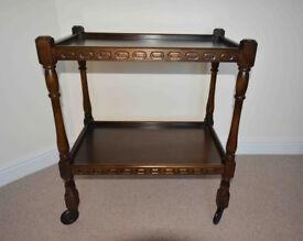 Priory solid oak trolley