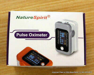 Nature Spirit Pulse Oximeter Pulse Rate Oxygen Level - New Orange