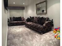 2 piece suite 4 seater & 2 seater drop arm sofa knoll sofolgy rrp £2,750