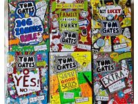 Tom Gates books, by Liz Pichon – first 12 books, all in good condition