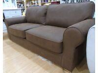 Tan 3 Seat Leather Sofa