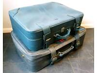 CAN DELIVER Two vintage suitcases / storage trunks