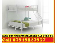 Trio Sleeper Metal Bunk Bed WITH MATTRESS CHOICES YAJS