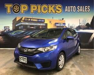 2016 Honda Fit LX, Automatic, Accident Free, Low Kms, Certified!