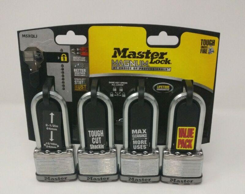 Master Lock Padlock, Magnum Laminated Steel Lock 2 in. Wide M5XQLJ Keyed Alike