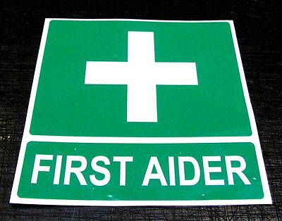 FIRST AIDER Magnetic Sign