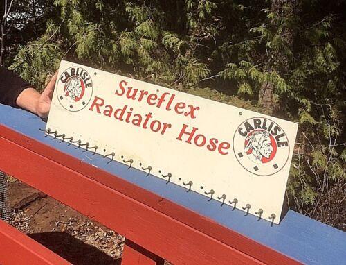 Vintage Carlisle Radiator Hose Display Rack Sign / Indian Brave gasoline oil