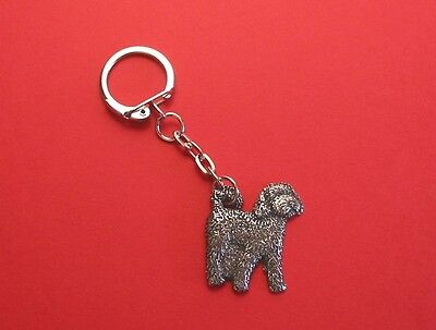 Cockapoo Dog Pewter Key Ring Farm Vet Mother's Day Father Xmas Free Pouch NEW