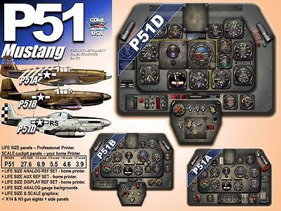 P51 NORTH AMERICAN MUSTANG COCKPIT instrument panel CDkit