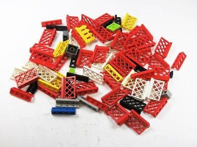 LEGO® Posten Zaun Absperrung Gartenzaun Gitter Rot Weiß Ersatzteile Feuerwehr