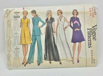 Vintage Vogue Muster 8467 Misses Kleid Tunika und Hose Sz 18 1/2 Büste 41 Vintage Und Vogue