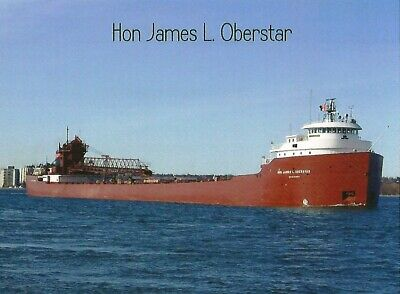 Postcard Great Lakes Freighter Hon James L. Oberstar American Steamship Co. MINT