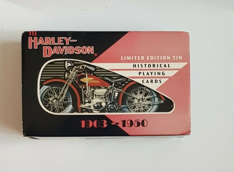Harley-Davidson Limited Edition Tin Historical Playing Cards 1903-1950 Sealed