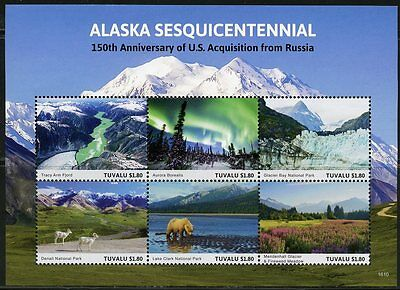 TUVALU   2017 150th ANNIVERSARY OF THE ACQUISITION OF ALASKA FROM RUSSIA SHEET