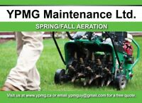 Lawn Aeration, Spring Clean Ups, Grass Cutting, Booking Now.
