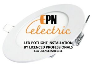 LED Potlight installation by electrician