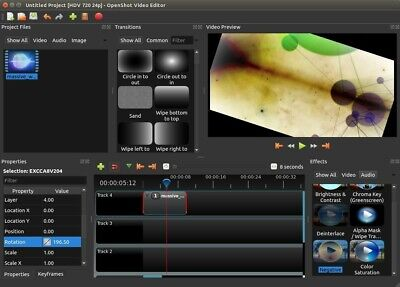 Open Shot 2019 4k  Video  Editing  Production Software w FFmpeg Windows 7 8
