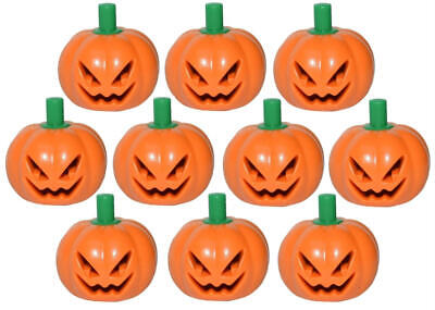 10 NEW LEGO JACK-O-LANTERN PUMPKIN LOT halloween minifig mask minifigure patch