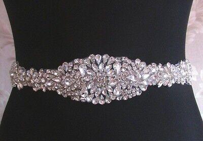 """Wedding Belt, Bridal Sash Belt- Crystal Sash Belt = 17"""" long"""