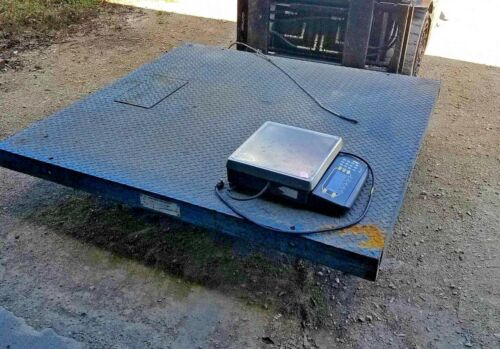 Weightronix Model: DSL6060-10 10,000 LB Digital Floor Scale w/counting scale