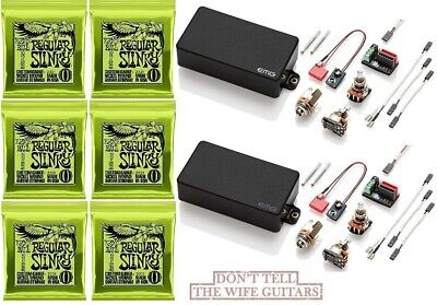 85 BLACK HSS ACTIVE HUMBUCKER /& 2 SINGLE COIL SET S 6 STRING SETS EMG S