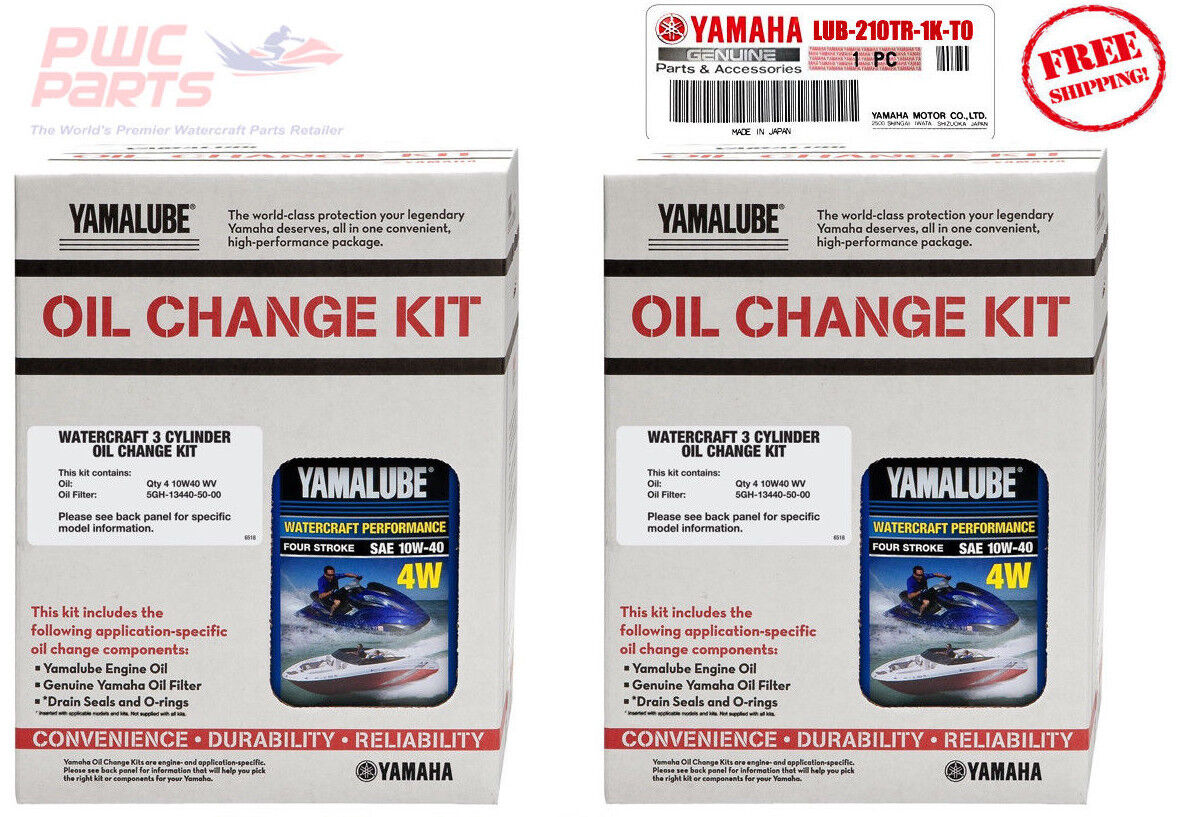 YAMAHA 2017+ AR210 Boat Twin Engine TR-1 Oil Change Kit LUB-210TR-KT-00