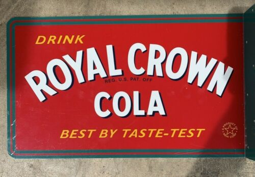 Royal Crown Cola FLANGED DOUBLE SIDED SODA SIGN 17.5x10.5