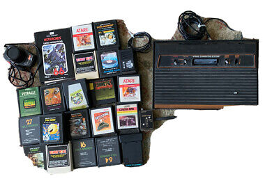 Atari 2600 Woodgrain 1 Switch Console Game System Bundle with Games