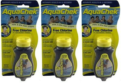 Aquachek Yellow Pool 50pk Spa Test Strips **3 bottles** - Aquachek Spa Pool