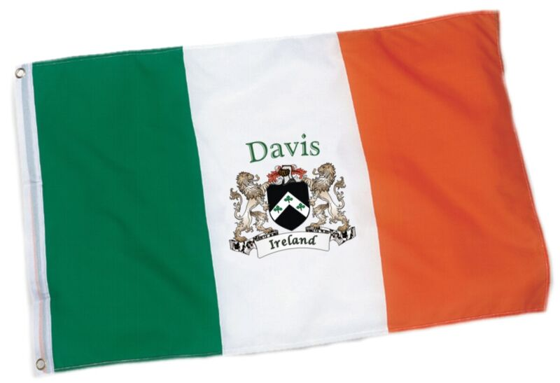 Davis Irish Coat of Arms Ireland Flag - 3