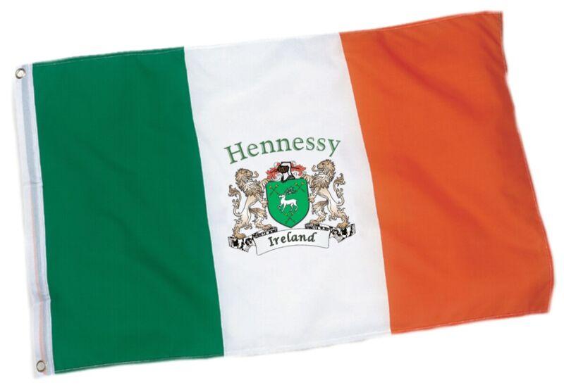 Hennessy Irish Coat of Arms Ireland Flag - 3
