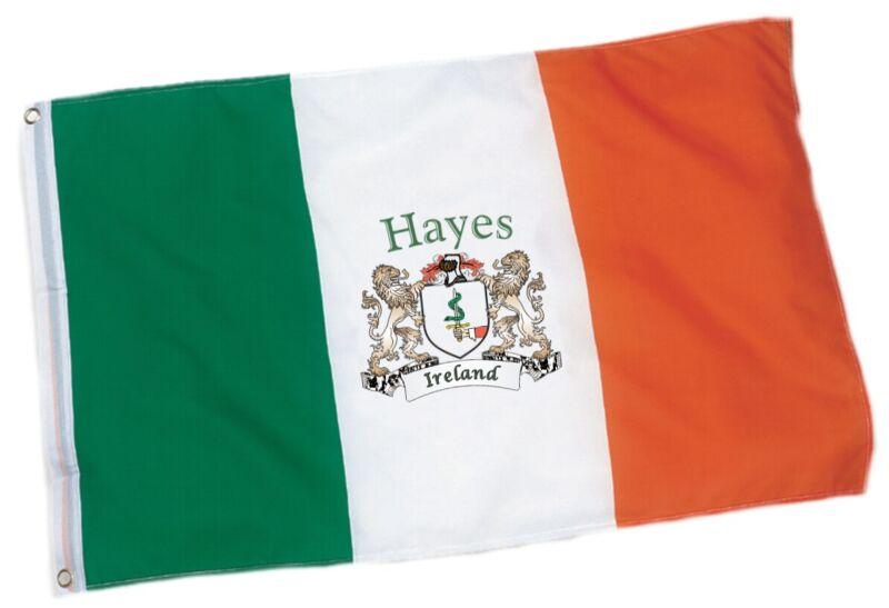 Hayes Irish Coat of Arms Ireland Flag - 3