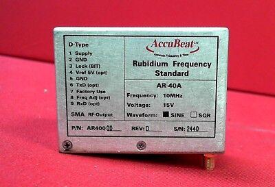 Accubeat Ar-40a Accubeat Rubidium Frequency Standard Ar-40a 10mhz