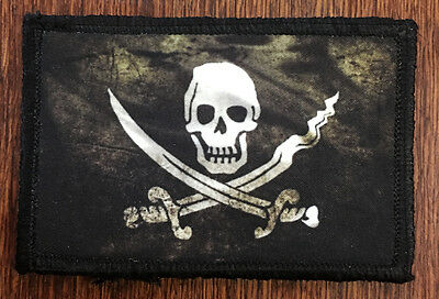 CALICO JACK FLAG Morale Patch Tactical Military NAVY SEAL PIRATE FLAG NSWDG -