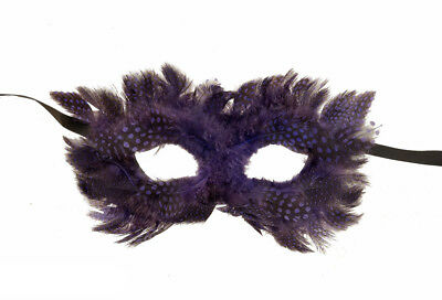 Mask Venice Colombine IN Feathers Celeste Purple For Prom Venetian 1024 CA2C