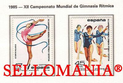 1985 GIMNASIA RITMICA CINTAS ARO EDIFIL 2811/12 ** MNH GYMNASTICS STAMPS TC11731