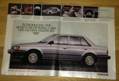 1986 Mazda 323 Deluxe Sports Sedan Vintage Magazine Print