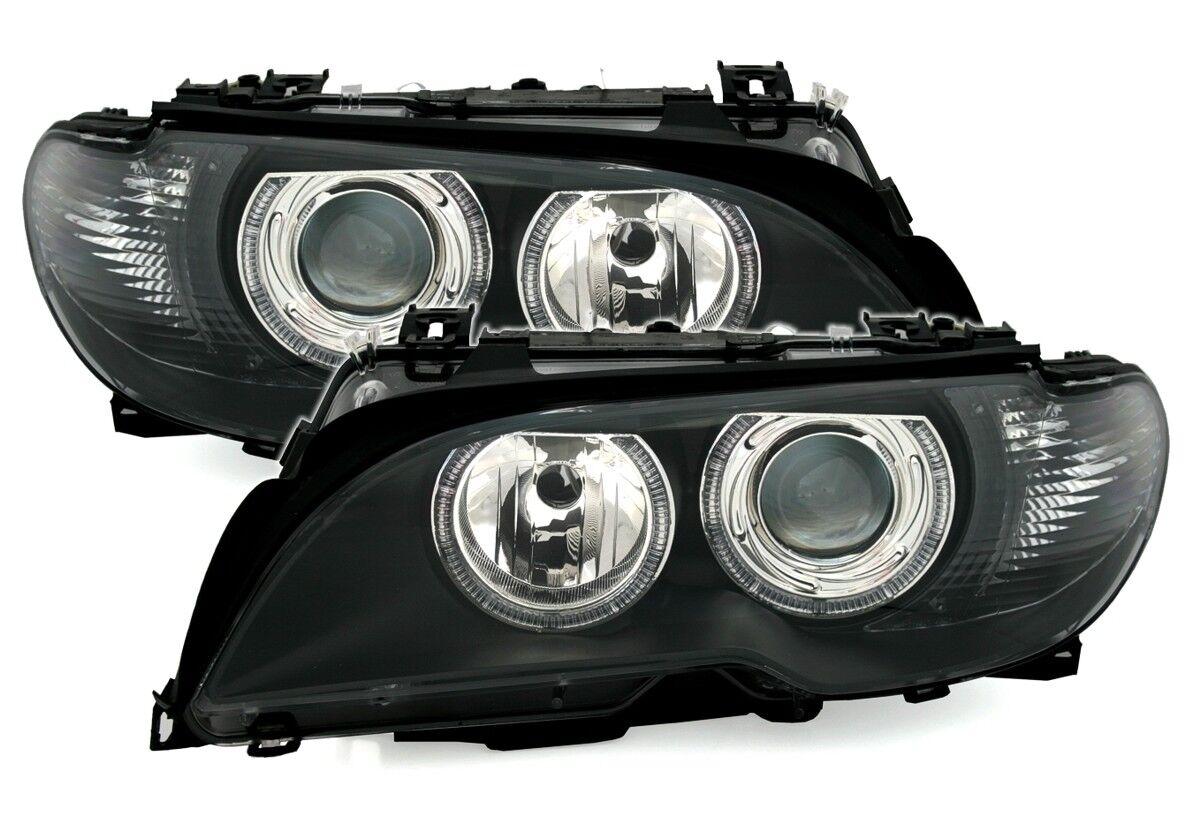 angel eyes scheinwerfer set f r 3er bmw e46 coupe cabrio. Black Bedroom Furniture Sets. Home Design Ideas
