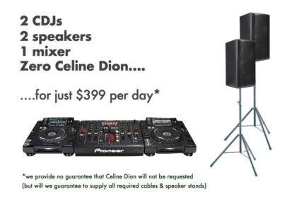 HIRE - Pioneer Nexus mixer + 2x CDJs + 12-inch speakers