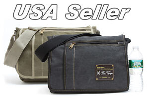 New-Military-Cotton-Canvas-Messenger-Shoulder-Bag-School-Bag-Book-Bag-BR2064