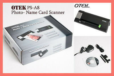 Otek Ps-a8 Photo/name Card Scanner - White Color In Stock Now