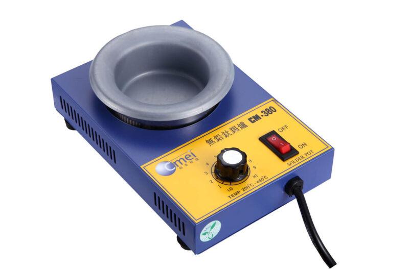 Solder Pot Bath CM380 250W Lead-Free Titanium Alloy Round Soldering Irons 80mm