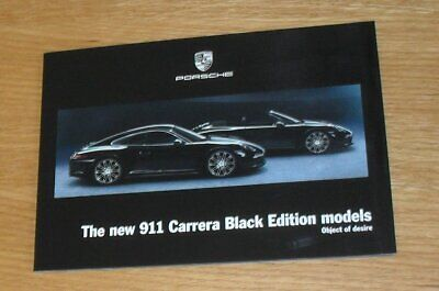 Porsche 911 991 Black Edition Brochure 2015 - Carrera 4 Coupe & Cabriolet