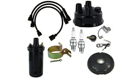 John Deere M Mc Mi Mt 320 330 6v Distributor Ignition Tune Up Kit With Coil